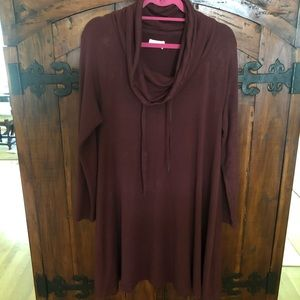 Lou & Grey LOFT Soft Burgundy Swing Dress M